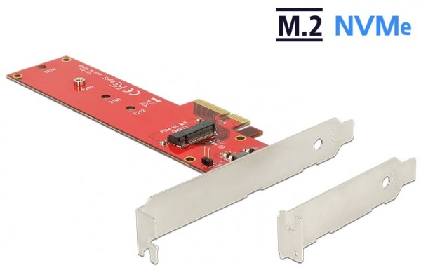 M.2 KEY M - PCIe x4 Adapter Board for SSDs (2242..22110)