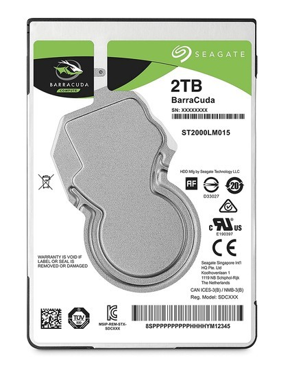 "2.5"" HDD 2TB Seagate Barracude ST2000LM015"