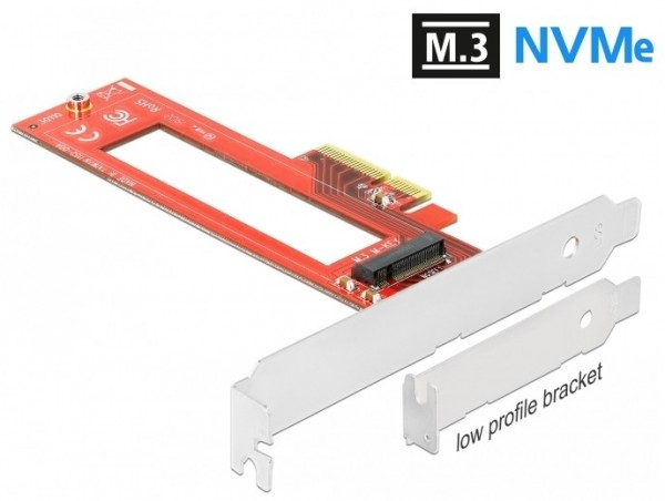 M.3 Key M - PCIe x4 Adapter Board for NVMe SSDs